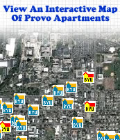 See an interactive map of Provo marked with apartments and condos